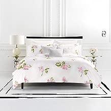 Kate Spade New York Breezy Magnolia King Duvet Set Bedding, White/Pink