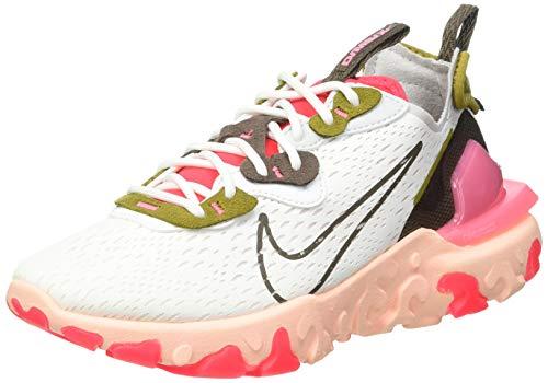 Nike NSW React Vision, Scarpe da Corsa Donna, Multicolore (Summit White/Ironstone-Siren Red-Desert Moss-Sunset Pulse-Photon Dust), 38 EU