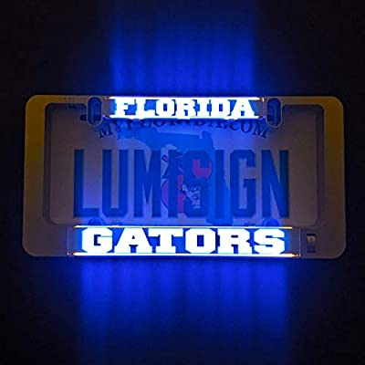 LumiSign – The Auto Illuminated License Plate Frame | Lights Up While You Brake | Installs in Seconds | No Wires, Battery Operated | Interchangeable Inserts (Florida)