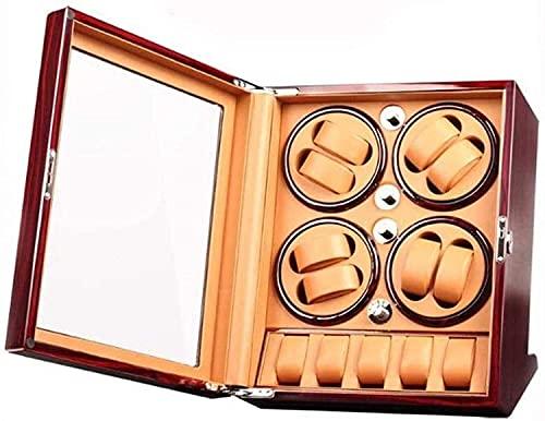 PLMOKN Caja de Laca de Piano Reloj automático Completo Caja de bobinado Caja de recopilación Caja Shaker Motor Box Moda (Color : Red, Size : Small)