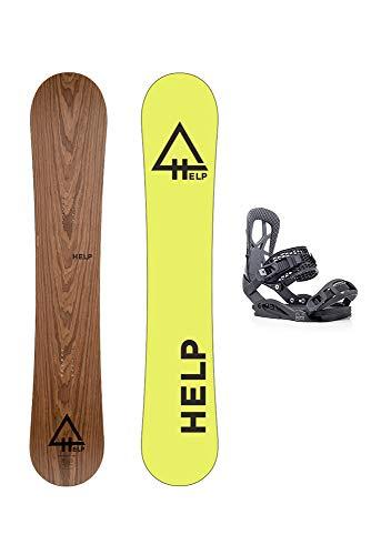 Help Snowboards Pack The Roots 2018-2020 und Bindungen Drake Fifty 2020-2021 - Snow - Freeride und Pista - Maße 159 und 162 W