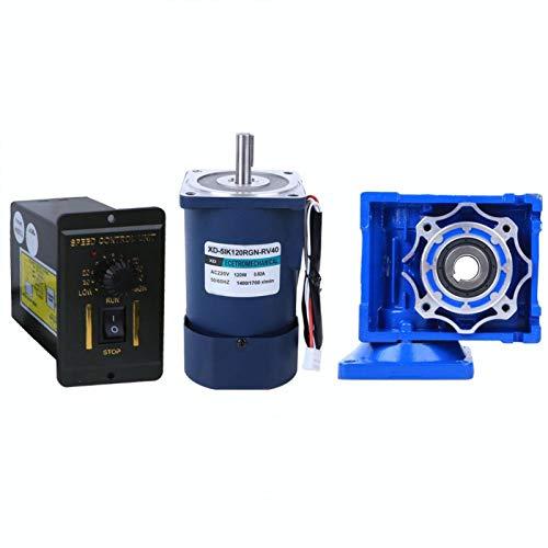 Motor reductor de engranaje helicoidal de 120W 220VAC 0.82A 5IK120RGN-RV40 + controlador de velocidad para equipo de oficina(Relación de reducción 40k)