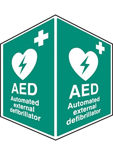 Caledonia Signs 56093 Aed Notfall Defibrillator Projecting Sign