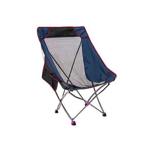 CJSWT Sillas Plegables portátiles ultraligeras al Aire Libre con Bolso de Transporte Pesado 90kg Capacidad Camping Sillas Plegables Sillas de Playa