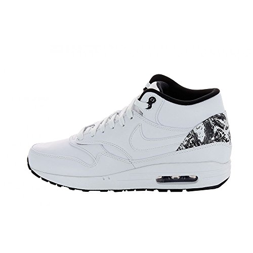 Nike Herren Air Max 1 Mid FB High-Top, Weiß (White/White-Black), 43 EU