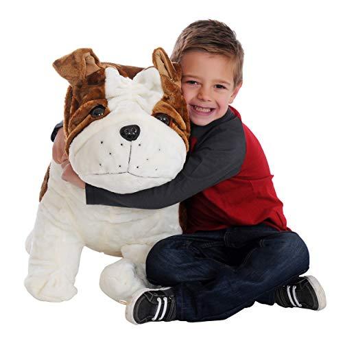CUDDALICIOUS Animal Plush Puppy Dog - 26 Inch Lifelike Soft Inflatable Puppy Pals Toy 2 Feet Tall