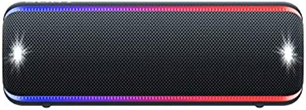 Sony SRS-XB32 Portable Bluetooth Speaker: Compact Wireless Party Speaker with Multicolor Lights and Flashing Strobe - Loud Audio for Phone Calls -Waterproof and Shockproof Bluetooth Speakers - Black