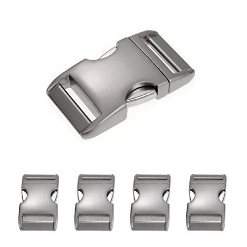 Ganzoo Fermeture à Pression métallique alumaxx, Ensemble de 4 pièces 3/4 « / de Fermeture Clip