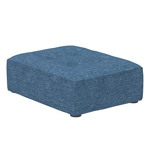 Marca Amazon -Alkove Elvas - Reposapiés de media altura para sofá modular, 70 x 93cm, azul marino