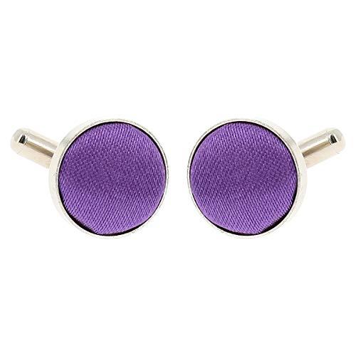 Boutons de Manchette Violet clair pour Homme - Accessoire Poignet Chemise et Veste de Costume - Mariage, Cérémonie
