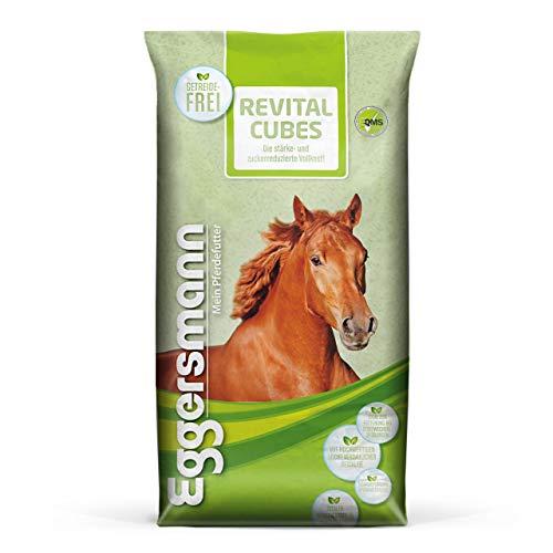 Eggersmann ReVital Cubes – Stärkereduziertes Pferdefutter Getreidefrei für Stoffwechselprobleme und Cushing – 25 kg Sack