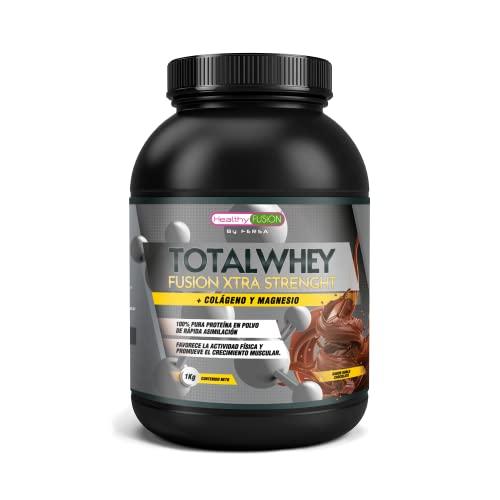 Whey Protein con Colágeno y Magnesio | Proteína de rápida asimilación | Aumenta la masa muscular, Mejora tus entrenamientos deportivos y favorece la correcta recuperación muscular | 1000g sabor Choco.