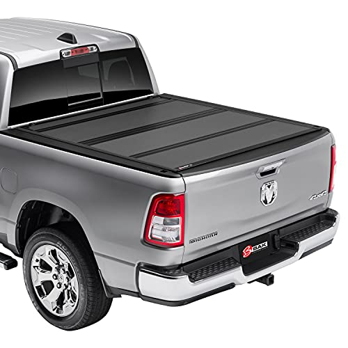 BAK BAKFlip MX4 Hard Folding Truck Bed Tonneau Cover   448203RB   Fits 2012-2018, 2019-21 Classic Dodge Ram 1500, 2012-21 2500/3500 w/RamBox 6′ 4″ Bed (76.3″)