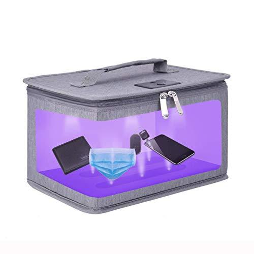 Sterilizzatore UV Professionale Sterilizzazione uvc con 12 Perline Lampada Sterilizzatrice Rapida 99% in 5 minuti, Ultravioletti Sanificatore Borsa Portatile per Cellulari/Estetica/Telefono/Occhiali