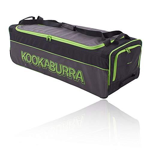 KOOKABURRA 4.0 Cricket Wheelie Bag, schwarz/Lime, Einheitsgröße