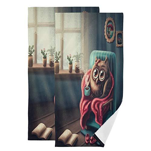 Mnsruu Toallas de baño de secado rápido, altamente absorbentes, súper suaves para deportes, spa, viajes, hotel, yoga 36,5 x 72 cm (paquete de 2)