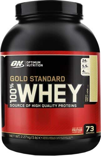 Optimum Nutrition WHEY GOLD STANDARD - 2,270kg - helado de vainilla