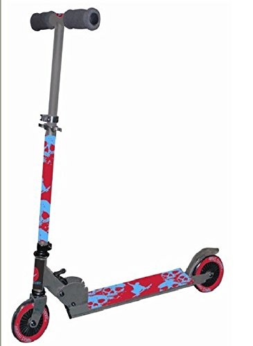 joka international GmbH Kinder Scooter DL S07 mit 125mm PVC Reifen in grau Roller Cityroller Kinderrolle