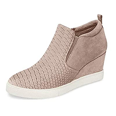 Amazon - Save 67%: LAICIGO Women's Hidden Wedge Platform Sneakers Side Zipper Slip-on Close…