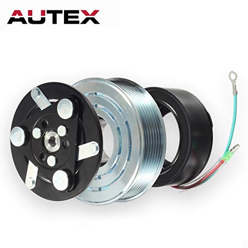 AUTEX AC A/C Compressor Clutch Coil Assembly Kit 38800RZYA010M2 80221SNAA01 8851502200 Compatible with CR-V 4CYL 2.4L 2007 2008 2009 2010 2011 2012 2013 2014