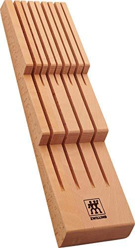 ZWILLING Messerhalter für Schubladen, Schubladen-Einsatz, Für 8 Messer, 41 x 10,8 x 4,8 cm, Holz