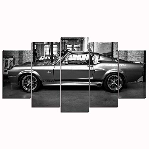L&WB Canvas Picture, Motive Ford Mustang Gt500 Eleanor, 5 Parts,XL