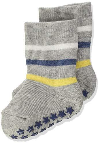 FALKE Unisex Baby Multi Stripe Catspads B HP Hausschuh-Socken, grau (Stormy Grey 3822), 6-12 Monate (74-80cm)