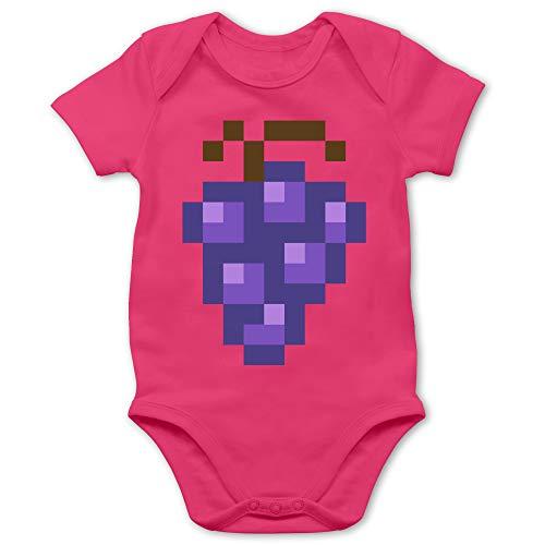 Shirtracer Karneval und Fasching Baby - Pixel Traube - Karneval Kostüm - 12/18 Monate - Fuchsia - Karneval - BZ10 - Baby Body Kurzarm für Jungen und Mädchen