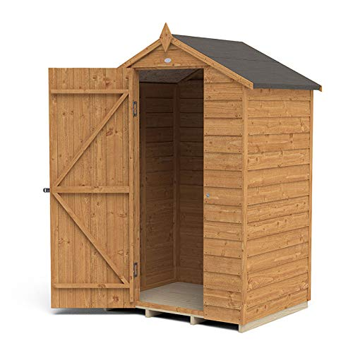 Forest Garden Overlap Dip Treated 4 x 3 Apex Shed - No Window