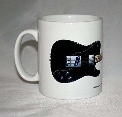 Tazza di chitarra. Fender Telecaster Custom illustrazione di Keith Richards.