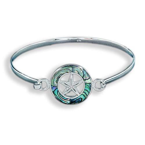 Monkimau Maritimer Seestern Armreif Armband aus 925 Sterling Silver echt Silber