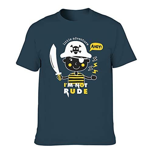 Camiseta de algodón para hombre con texto en inglés 'I'm Not Rude' azul marino XXXXXXL