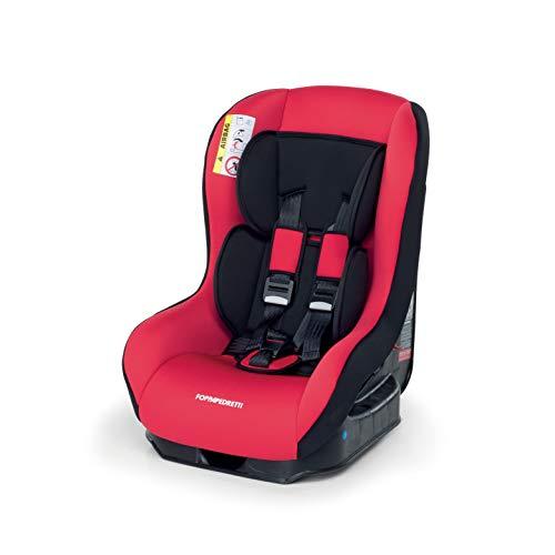 Foppapedretti Go! Evolution, Seggiolino auto Gruppo 0/1 (0-18 Kg) per Bambini dalla Nascita Fino a 4 Anni Circa, Cherry