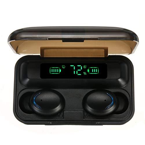 ist Präfekt für Streaming / Podcasting / Gaming TWS. Bluetooth 5.0 Kopfhörer Smart Touch Power Bank Mini-Ohrhörer IPX7. Wasserdichter Kopfhörer mit Mikrofon ( Color : Black )