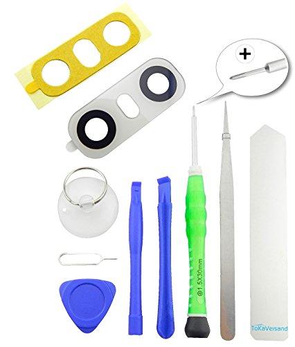 TOKA-VERSAND® - Kamera Glas Abdeckung Premium [echt Glass] für LG G6 H870 H872 VS988 LS993 US997 mit Kleber [Dichtung] sowie 8X teiliges Werkzeug [magnetisch] 10in1 Linse Weiß