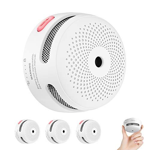 X-Sense Rauchmelder Mini Feuermelder mit 10 Jahren Batterielaufzeit, TÜV und EN14604 Zertifizierter Rauchwarnmelder, Feueralarm mit Fotoelektrischem Sensor, XS01 (3er Set)