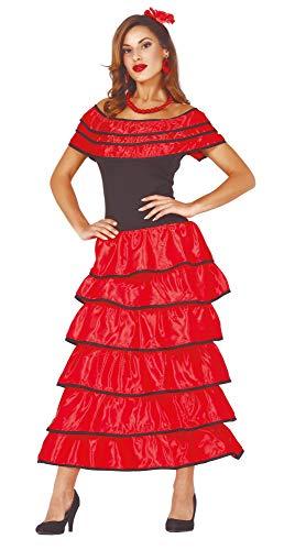 Guirca sexy Flamenco Tänzerin Kostüm für Damen Größe M-L - Fasching Karneval, Größe:L