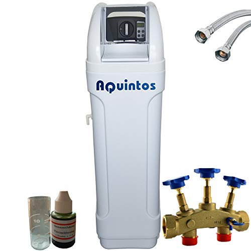 Wasserenthärter Entkalker MKB 60 Eco-Line von Aquintos Wasseraufbereitung | Entkalkungsanlage mit Bypass-Funktion für 100{3e474966c16b39a5931dac315518461b5060c780873bc7d288f3701c9bcf2b20} kalkfreies Wasser | Komplettset