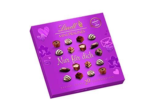 Lindt Mini Pralinés, Rosa, Emotional Edition mit persönlicher Botschaft, Ideal als Pralinen-Geschenk zum Muttertag, 1er Pack (1 x 100 g)