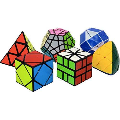 LBCD Rubix Cube Magic Speed - Juego de 6 puzles profesionales para niños (flexión)