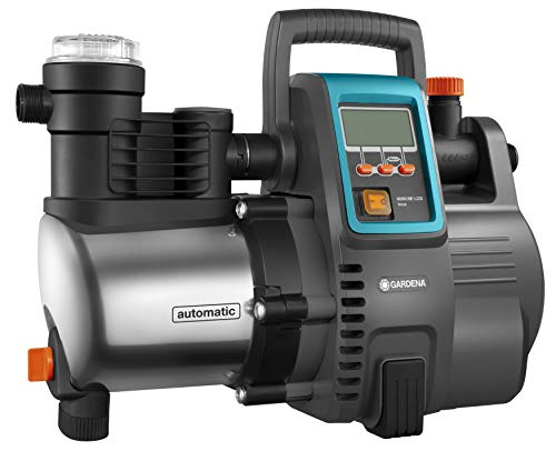Gardena Premium Hauswasserautomat 6000/6E LCD Inox: Hauswasserpumpe mit 6000 l/h Fördermenge, 1300 W Motor, mit LC-Display, Pumpengehäuse aus rostfreiem hochwertigem Edelstahl (1760-20)