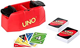 ​UNO Showdown Quick Draw Family Card Game with 112 Cards & UNO Showdown Unit for Ages 7 Years Old & Up, Gift for Kid,...