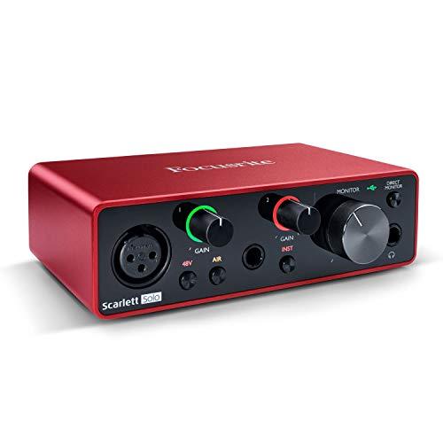 Focusrite SCARLETT SOLO 3ª generación 192kHz interfaz de audio USB w/Pro Tools primero