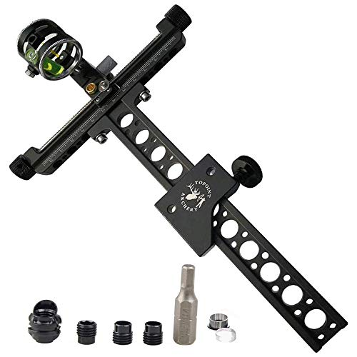 AMEYXGS Archery Compound Bow Sight 4 Times Bow Sight with 45 Degree Peep Sight and 6X Lens Clarifier for Outdoor Shooting Target Training