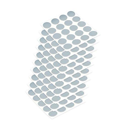 Emuca 4026421 Tapa embellecedora adhesiva, Ø13mm, Gris, Lote de 200 piezas