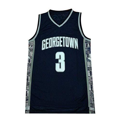 Camiseta para Hombre -NCAA Georgetown University # 3 Allen Iverson Baloncesto Sin...