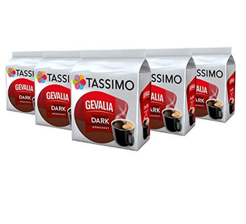Tassimo Gevalia Dark, Kaffee, Arabica, Kaffeekapsel, gemahlener Röstkaffee, 16 T-Discs