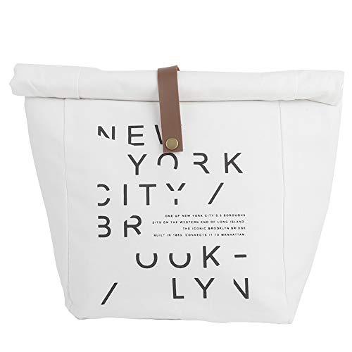 Lonchera Bolsa de aislamiento Caja de almuerzo con letras simples Bolsa de aislamiento Bolsa de picnic Bolsa de tela fresca pequeña y multiusos