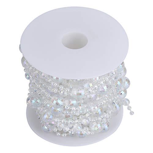 【 2021 Capodanno 】 Corda per perline in acrilico, colore uniforme in acrilico per perline fai da te, per bouquet da sposa, centrotavola per matrimoni e ghirlande
