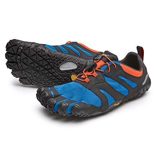 Vibram Mens V-Trail 2.0 Sneaker, Blue/Orange